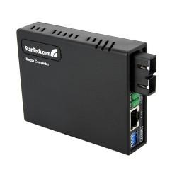StarTech.com - Conversor de Medios Ethernet RJ45 a Fibra Óptica Multimodo SC - 2Km