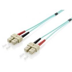 Equip - 255321 cable de fibra optica 1 m OM3 SC Turquesa