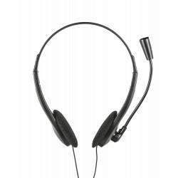 Trust - 21665 Binaural Dentro de oído Negro auricular con micrófono