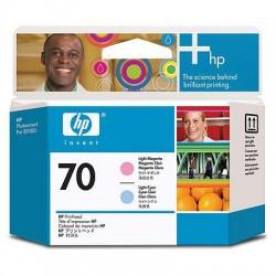 HP - Cabezal de impresión DesignJet 70 magenta claro/cian claro