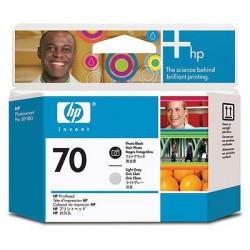 HP - Cabezal de impresión DesignJet 70 negro fotográfico/gris claro