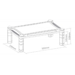 "Newstar - NSMONITOR20 soporte de pie para pantalla plana Portable flat panel floor stand Negro 81,3 cm (32"")"