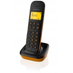 Alcatel - D135 DECT Identificador de llamadas Negro, Naranja