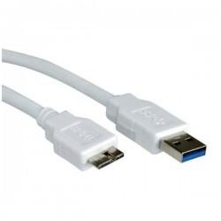 Nilox - USB A - Micro-USB B, 2m cable USB Blanco
