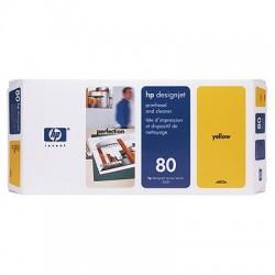 HP - Limpiador de cabezales de impresión y cabezal de impresión DesignJet 80 amarillo