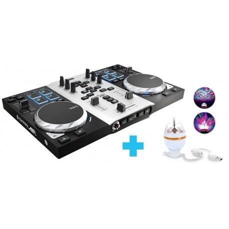 Hercules - Air S Party Pack 2channels Negro, Plata controlador dj