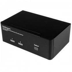StarTech.com - Switch Conmutador KVM de 2 Puertos DisplayPort - 4K 60Hz