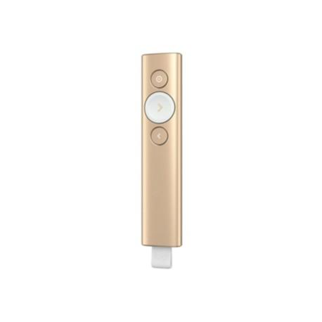 Logitech - Spotlight Bluetooth/RF Oro apuntador inalámbricos