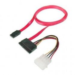 Nilox - 0.5m SATA 22 cable de SATA 0,5 m SATA 22-pin SATA 7-pin + Molex (4-pin) Rojo