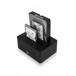 Ewent - EW7014 base de conexión para disco duro Negro
