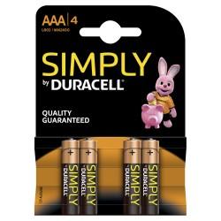 Duracell - LR03 4-BL Simply Batería de un solo uso AAA Alcalino