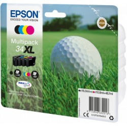 Epson - Golf ball Multipack 4-colours 34XL DURABrite Ultra Ink