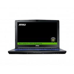 "MSI - Workstation WE62 7RJ-1839XES 2.8GHz i7-7700HQ 15.6"" 1920 x 1080Pixeles Negro Estación de trabajo móvil"