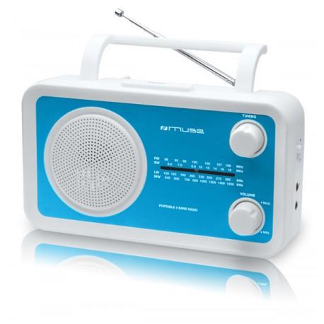 Muse - M-05BL Personal Analógica Azul, Color blanco radio