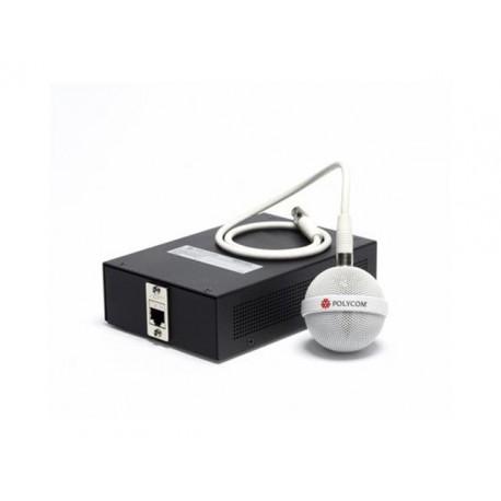 Polycom - 2200-23810-002 Alámbrico Negro, Color blanco micrófono