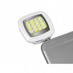 SBS - TEFLASHUNIV 3.5mm/Micro-USB LED Plata, Color blanco flash para móvil