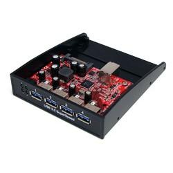 StarTech.com - Panel Multipuertos Hub Concentrador USB 3.0 SuperSpeed para Bahía Frontal de 3,5 o 5,25 Pulgadas