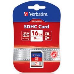 Verbatim - Premium 16GB SDHC Clase 10 memoria flash