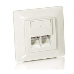 Equip - 125762 toma de corriente RJ-45 Blanco