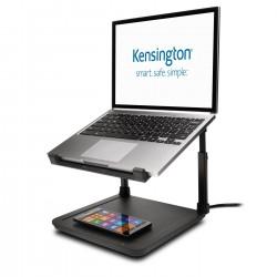 Kensington - Soporte elevador para portátiles SmartFit® con panel de carga inalámbrica para teléfonos