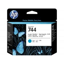 HP - Cabezal de impresión DesignJet 744 negro fotográfico/cian