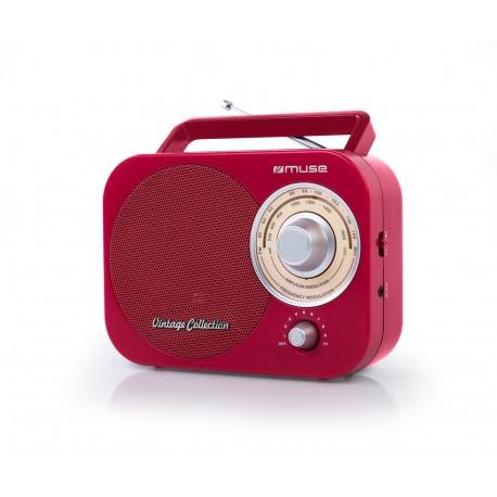 Muse - M-055 RD Portátil Analógica Rojo radio