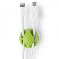 Quick Media - QMCCD Escritorio Cable holder Verde 1pieza(s) organizador de cables