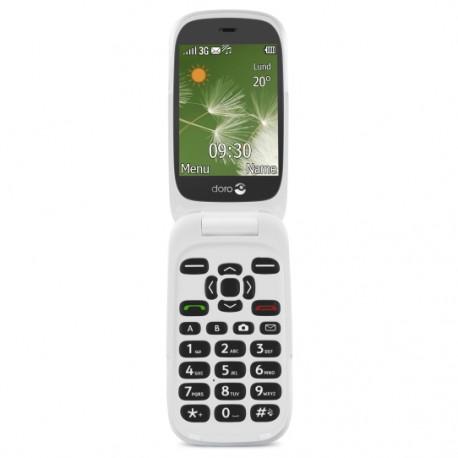 """Doro - 6520 2.8"""" 108g Grafito, Color blanco Teléfono básico"""