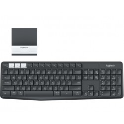 Logitech - K375s RF Wireless + Bluetooth QWERTY Español Grafito, Blanco