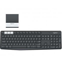 Logitech - K375s teclado RF Wireless + Bluetooth QWERTY Español Grafito, Blanco
