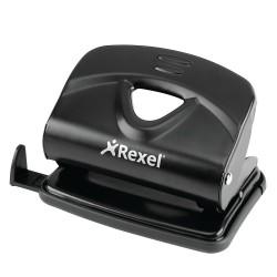 Rexel - Perforadora Value V220 2 agujeros metal negra