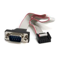 StarTech.com - Cabezal Bracket de puerto Serie RS232 Serial 0,4M con conexión a Placa Base