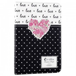 "e-Vitta - EVUS2PP032 10.1"" Folio Negro, Color blanco funda para tablet"