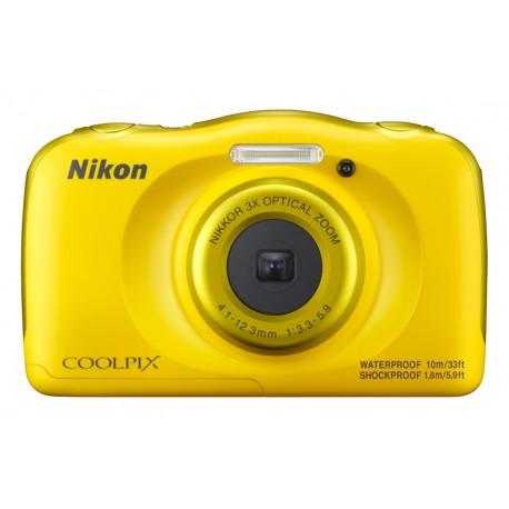 "Nikon - COOLPIX W100 Cámara compacta 13.2MP 1/3.1"" CMOS 4160 x 3120Pixeles Amarillo"