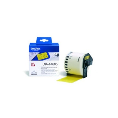 Brother - DK-44605 Continuous Removable Yellow Paper Tape 62mm