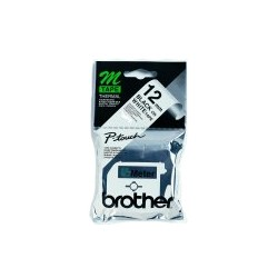 Brother - Labelling Tape - 12mm, Black/White, Blister cinta para impresora de etiquetas M