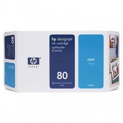 HP - Cartucho de tinta DesignJet 80 cian de 350 ml