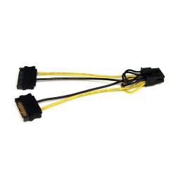 StarTech.com - Cable Adaptador 15cm Alimentación SATA a Conector 8 Pines de Corriente de Tarjeta Gráfica PCI Express PCIe