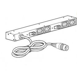 APC - AP6015A unidad de distribución de energía (PDU) 0U/1U Negro 8 salidas AC