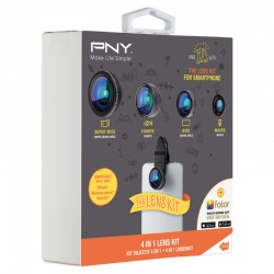 PNY - LNS-4N1-02-RB Negro lente de teléfonos móviles