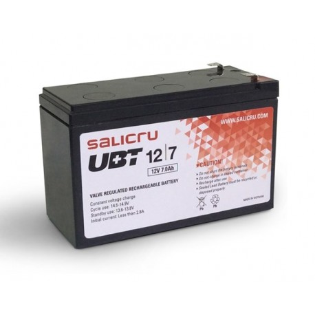Salicru - UBT 12/7 Sealed Lead Acid (VRLA) 7Ah 12V batería para sistema ups