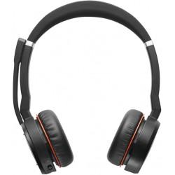 Jabra - Evolve 75 MS Stereo Auriculares Diadema Negro, Rojo - 7599-832-109