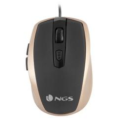 NGS - Tick Gold ratón USB Óptico 1600 DPI mano derecha Oro