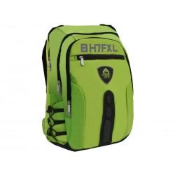 KeepOut - BK7F mochila Imitación piel, Nylon Black, Verde - BK7FGXL