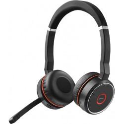 Jabra - Evolve 75 MS Stereo Auriculares Diadema Negro, Rojo - 7599-832-199