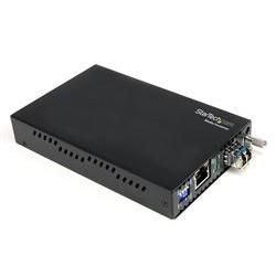 StarTech.com - Conversor de Medios Gigabit Ethernet 1Gbps a Fibra Monomodo Conector LC -40km