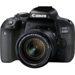 Canon - EOS 800D + EF-S 18-55mm 4.0-5.6 IS STM Juego de cámara SLR 24,2 MP CMOS 6000 x 4000 Pixeles Negro