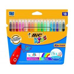 BIC - Kid Couleur rotulador Medio Multicolor 18 pieza(s)