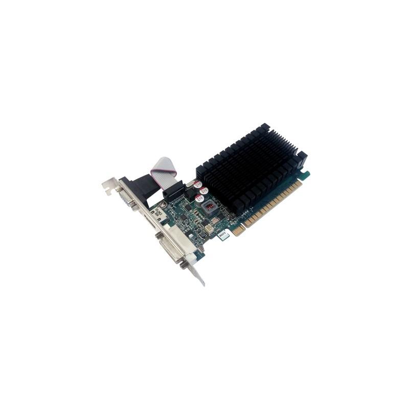 Tarjeta gr/áfica GeForce GT 710, 1 GB, GDDR3, 64 bit, 4096 x 2160 Pixeles, PCI Express 2.0 PNY GF710GTLH1GEPB