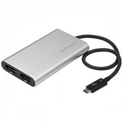 StarTech.com - Adaptador Conversor Thunderbolt 3 a 2 Puertos DisplayPort 4K 60Hz Compatible con Windows y Mac